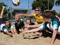 Volleyball courts official opening